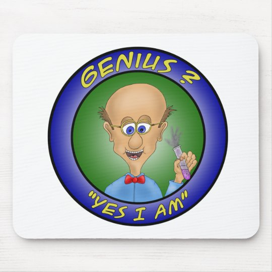 "Funny Mouse Pads:  Genius ?, ""Yes i am"" Mouse Mat"