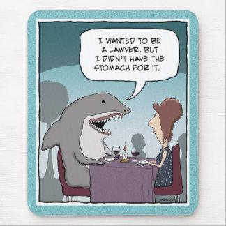 Funny mousepad: Shark Lawyer Mouse Mat