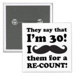 Funny Moustache 30th Birthday