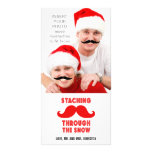 Funny Moustache Christmas Photo Card