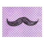 Funny   Moustache Drawing With Purple Polka Dots