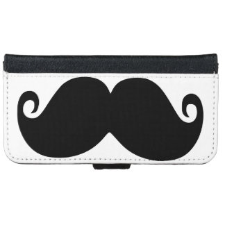 Funny moustache iPhone 6 wallet case
