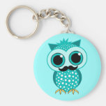 funny moustache owl key chain