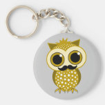 funny moustache owl key chains