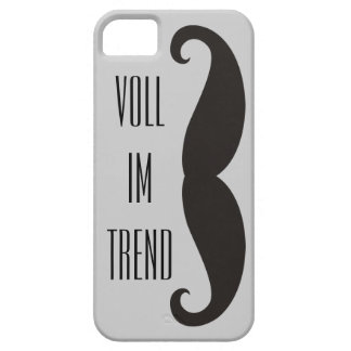 Funny Moustache / Schnurrbart + your text iPhone 5 Cases