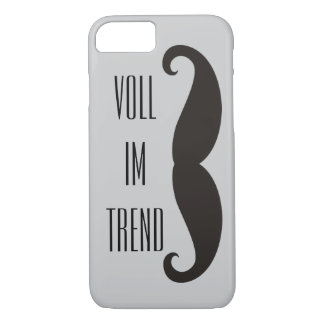 Funny Moustache / Schnurrbart + your text iPhone 7 Case