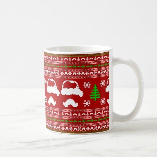 Funny Moustache Ugly Christmas Sweater Coffee Mug
