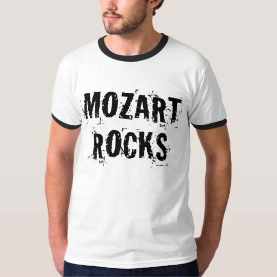 Funny Mozart Rocks Music Gift T-Shirt