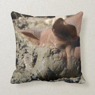 Funny Muddy Pig Face Cushion