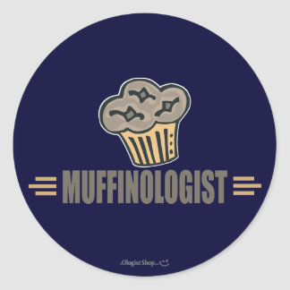 Funny Muffin Classic Round Sticker