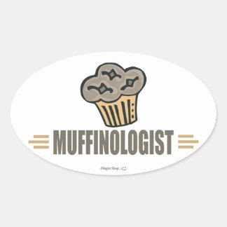 Funny Muffin Oval Sticker