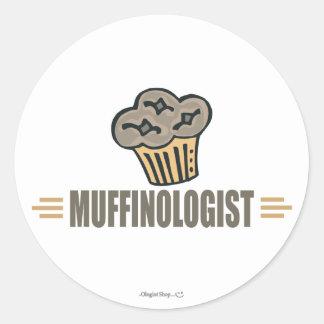 Funny Muffin Round Stickers