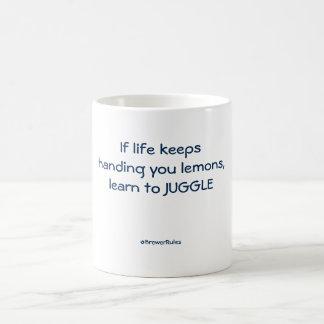 Funny mug: If life keeps handing you lemons... Basic White Mug