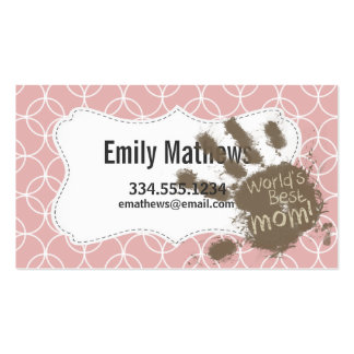 Funny Mum Mauve Circles Pack Of Standard Business Cards