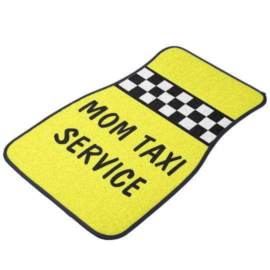 Funny Mum Taxi Service Car Mats Floor Mat