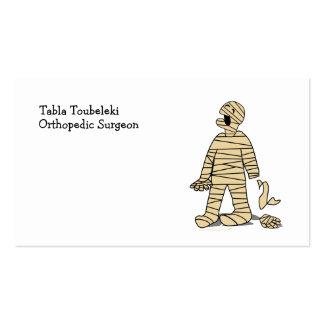 Funny Mummy Broken Hand Halloween Business Card Templates