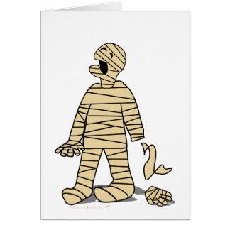 Funny Mummy Broken Hand Halloween Card