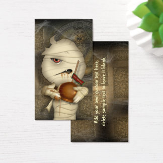 Funny Mummy Halloween Costume Business Card
