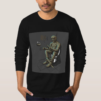Funny Mummy On The Toilet T Shirt