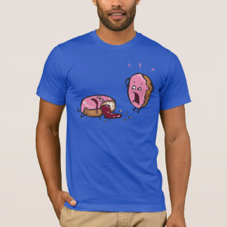 Funny Murdered Doughnut Cartoon T-Shirt