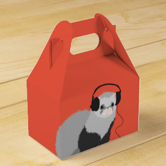Funny Music Lover Ferret Favour Box