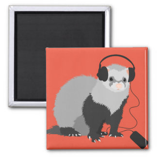 Funny Music Lover Ferret Magnet