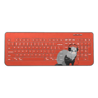 Funny Music Lover Ferret Wireless Keyboard