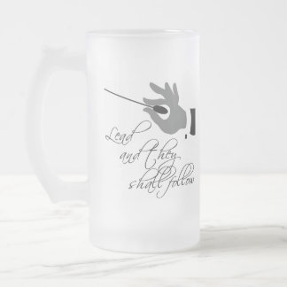 Funny Music Teacher Gift Frosted Glass Beer Mug