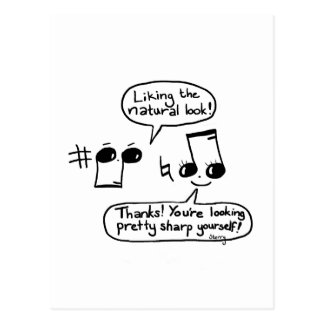Funny Musical Compliments Cartoon: Version II Postcard