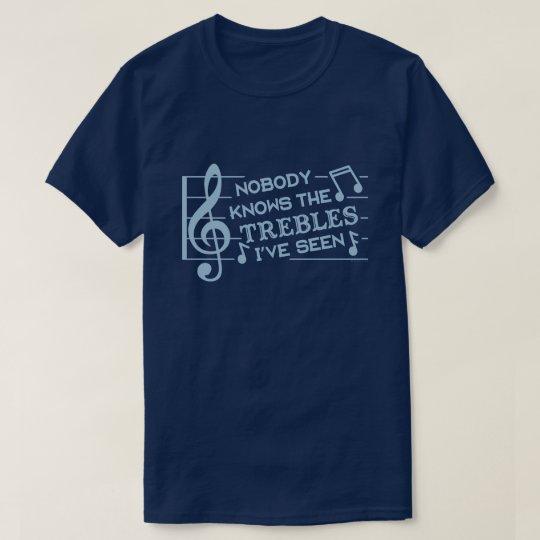 Funny Musicians Treble Joke Pun | Music Teachers 2 T-Shirt