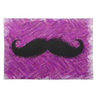 Funny Mustache Abstract Painting Place Mats