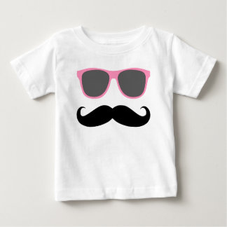 funny mustache and pink shades baby T-Shirt