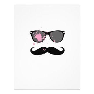 Funny Mustache and Sunglasses 21.5 Cm X 28 Cm Flyer