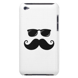 Funny mustache and sunglasses face Case-Mate iPod touch case