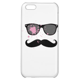 Funny Mustache and Sunglasses iPhone 5C Cases