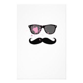 Funny Mustache and Sunglasses Stationery