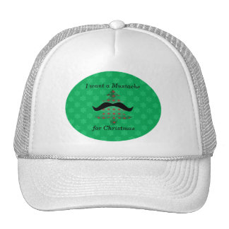 Funny mustache christmas gifts trucker hat