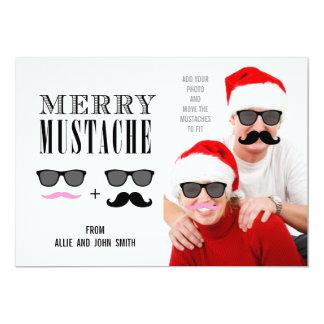 Funny Mustache Christmas Photo Card   Newlyweds 13 Cm X 18 Cm Invitation Card