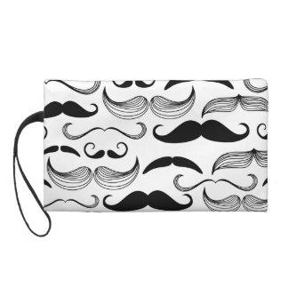 Funny Mustache Design Wristlet