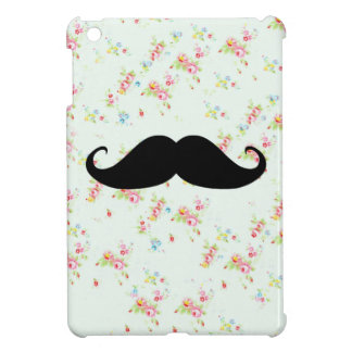 Funny mustache floral mustaches girly pattern iPad mini cover