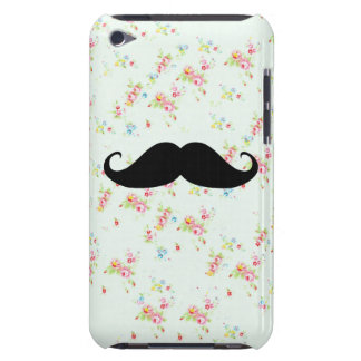 Funny mustache floral mustaches girly pattern iPod touch Case-Mate case