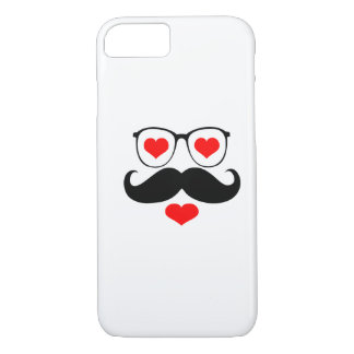 Funny  Mustache Glasses 6 iPhone 7 Case