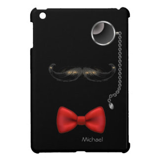 Funny Mustache Glasses Bow Tie  iPad Mini Case