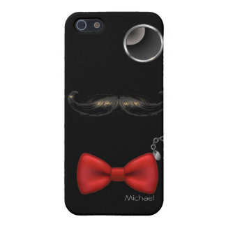 Funny Mustache Glasses Bow Tie iPhone 5 Case. iPhone 5/5S Case