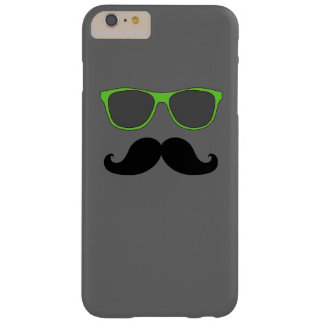 FUNNY MUSTACHE GREEN SUNGLASSES BARELY THERE iPhone 6 PLUS CASE