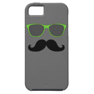 FUNNY MUSTACHE GREEN SUNGLASSES CASE FOR THE iPhone 5