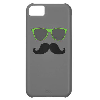 FUNNY MUSTACHE GREEN SUNGLASSES iPhone 5C CASE