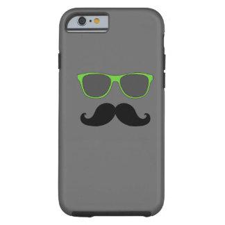 FUNNY MUSTACHE GREEN SUNGLASSES TOUGH iPhone 6 CASE