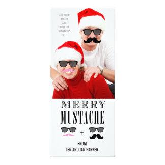Funny Mustache Holiday Photo Card 10 Cm X 24 Cm Invitation Card