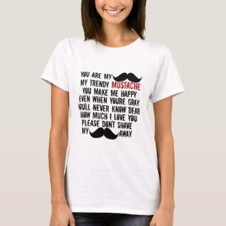 Funny Mustache Moustache Song T-Shirt
